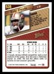 1993 Topps #535  Eric Davis  Back Thumbnail