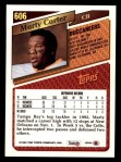 1993 Topps #606  Marty Carter  Back Thumbnail