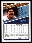 1993 Topps #632  Duane Bickett  Back Thumbnail