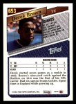 1993 Topps #653  Derek Brown  Back Thumbnail