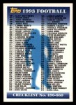 1993 Topps #660   Checklist 496-660 Front Thumbnail