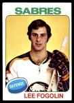 1975 Topps #306  Lee Fogolin   Front Thumbnail