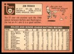 1969 Topps #199  Jim French  Back Thumbnail