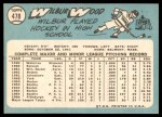 1965 Topps #478  Wilbur Wood  Back Thumbnail