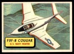 1957 Topps Planes #15 BLU  F9f-8 Cougar Front Thumbnail