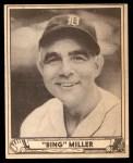 1940 Play Ball #137  Bing Miller  Front Thumbnail