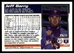 1995 Topps Traded #22 T Jeff Barry  Back Thumbnail