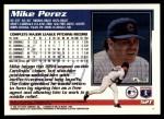 1995 Topps Traded #52 T Mike Perez  Back Thumbnail