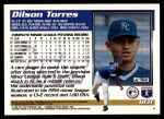 1995 Topps Traded #103 T Dilson Torres  Back Thumbnail