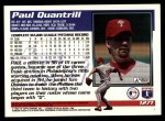 1995 Topps Traded #127 T Paul Quantrill  Back Thumbnail