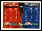 1995 Topps Traded #156 T  -  Frank Thomas / Fred McGriff All-Star Back Thumbnail