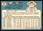 1965 Topps #445  Don Lock  Back Thumbnail