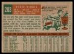 1959 Topps #203  Ozzie Virgil  Back Thumbnail
