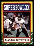 1986 Topps #8   Super Bowl XX Front Thumbnail