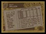 1986 Topps #72  Matt Millen  Back Thumbnail