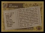 1986 Topps #106  Joe Klecko  Back Thumbnail