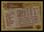 1986 Topps #154  Sean Landeta  Back Thumbnail