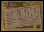 1986 Topps #160  Dwight Clark  Back Thumbnail
