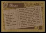 1986 Topps #164  Jeff Stover  Back Thumbnail