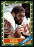 1986 Topps #166  Dwaine Board  Front Thumbnail