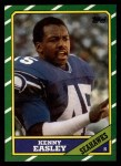 1986 Topps #211  Kenny Easley  Front Thumbnail