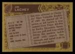 1986 Topps #238  Jim Lachey  Back Thumbnail
