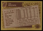 1986 Topps #295  Ted Brown  Back Thumbnail
