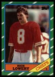 1986 Topps #308  Nick Lowery  Front Thumbnail