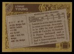 1986 Topps #337  Lonnie Young  Back Thumbnail