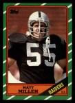 1986 Topps #72  Matt Millen  Front Thumbnail
