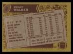 1986 Topps #99  Wesley Walker  Back Thumbnail