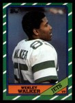 1986 Topps #99  Wesley Walker  Front Thumbnail