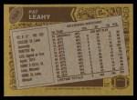 1986 Topps #104  Pat Leahy  Back Thumbnail