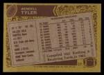 1986 Topps #158  Wendell Tyler  Back Thumbnail