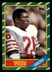 1986 Topps #158  Wendell Tyler  Front Thumbnail