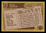 1986 Topps #187  Bernie Kosar  Back Thumbnail