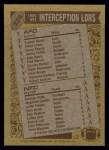 1986 Topps #229   -  Eugene Daniel / Albert Lewis / Everson Walls Interception Leaders Back Thumbnail