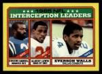1986 Topps #229   -  Eugene Daniel / Albert Lewis / Everson Walls Interception Leaders Front Thumbnail