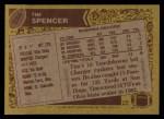 1986 Topps #234  Tim Spencer  Back Thumbnail