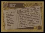 1986 Topps #240  Jeffery Dale  Back Thumbnail