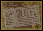 1986 Topps #281  Mark Malone  Back Thumbnail