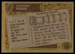 1986 Topps #306  Stephone Paige  Back Thumbnail