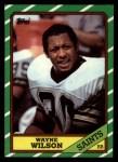 1986 Topps #341  Wayne Wilson  Front Thumbnail