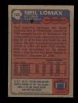 1985 Topps #143  Neil Lomax  Back Thumbnail