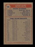 1985 Topps #148   -  Wendell Tyler / Roger Craig / Ronnie Lott / Keena Turner / Dwaine Board / Riki Ellison 49ers Leaders Back Thumbnail