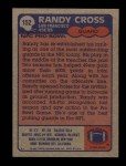 1985 Topps #152  Randy Cross  Back Thumbnail