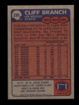 1985 Topps #286  Cliff Branch  Back Thumbnail