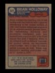 1985 Topps #327  Brian Holloway  Back Thumbnail