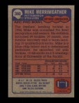 1985 Topps #360  Mike Merriweather  Back Thumbnail