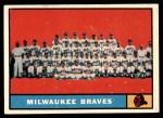 1961 Topps #463 MIL  Braves Team Front Thumbnail